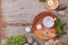 Preparazione gel naturale d'idratazione fatto a mano e del cosmetico antinvecchiamento Immagine Stock