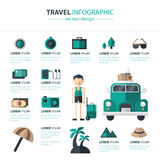 Preparazione Infographics di viaggio Fotografia Stock Libera da Diritti
