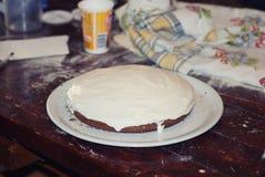 In preparazione la torta Immagine Stock Libera da Diritti