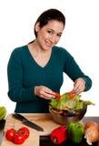 Preparazione organica dell'insalata Immagini Stock Libere da Diritti