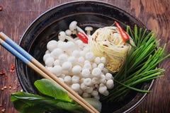 Preparazione orientale del pranzo Fotografia Stock
