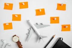 Preparazione per il concetto di viaggio e fare lista Fotografie Stock