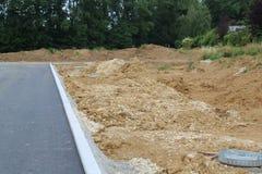 Preparazione per la costruzione di nuovo villaggio residenziale Immagini Stock Libere da Diritti