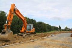 Preparazione per la costruzione di nuovo villaggio residenziale Fotografie Stock
