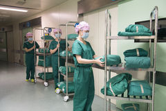 Preparazione preparazione-preoperatoria del pacco chirurgico Fotografia Stock Libera da Diritti