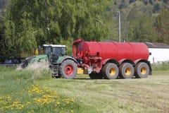 Preparazioni della primavera su un'azienda agricola Immagini Stock Libere da Diritti