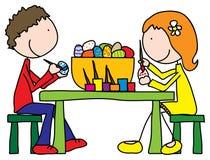 Preparazioni di Pasqua royalty illustrazione gratis