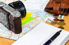 Preparazioni di viaggio Fotografia Stock