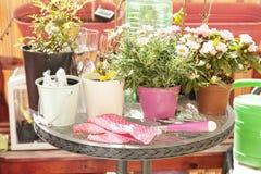 Prepare balcony for spring Stock Image