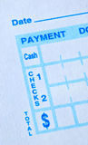 Prepare the bank payment slip Stock Image