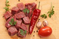 Prepare a carne Imagens de Stock