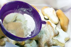 Prepare of cookies Royalty Free Stock Photo