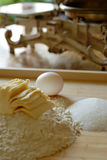 Prepare cooking. With sugar and egg Stock Images