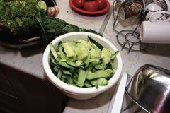 Prepare cucumber. Stock Image