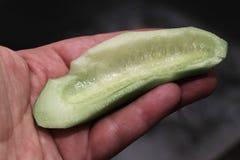 Prepare cucumber. Stock Images