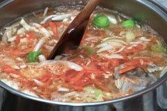 Prepare Cucumber soup. Stock Photos