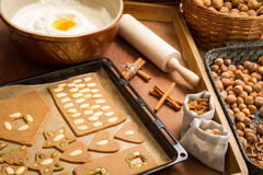 Prepare dough for gingerbread cookies Royalty Free Stock Photography