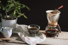 Free Prepare Drip Coffee Set For Afternoon Break Under Sunlight Royalty Free Stock Photos - 151212018