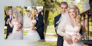 Prepare e a noiva durante a caminhada em seu dia do casamento Foto de Stock Royalty Free