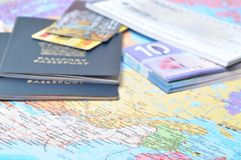 Prepare el viaje de negocios Imágenes de archivo libres de regalías