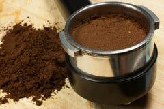 Prepare espresso Stock Image