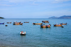 Prepare for fishing in Nha Trang beach, Khanh Hoa, Vietnam Stock Photos