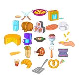 Prepare food icons set, cartoon style. Prepare food icons set. Cartoon set of 25 prepare food vector icons for web isolated on white background Royalty Free Stock Images