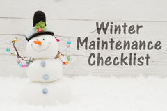 Free Prepare For Winter Message Stock Photography - 80497192