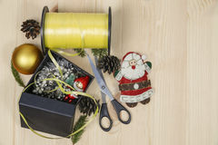 Prepare gifts for Christmas Stock Photography