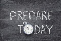 Prepare hoje o relógio imagem de stock royalty free