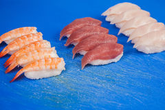 Prepare japanese sushi rolls Royalty Free Stock Image