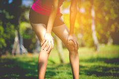 Jogging with sports shoes on holiday For health and beauty. And fat reduction. royalty free stock image