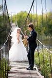 Prepare jugar para la novia en su día de boda foto de archivo libre de regalías
