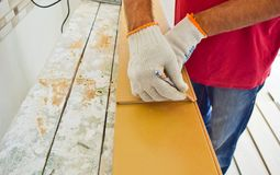 Prepare of laminate. Royalty Free Stock Images