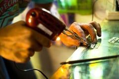 Prepare las herramientas para el bambú tradicional del tatuaje Foto de archivo libre de regalías