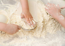 Prepare meal food. sift flour Stock Photo