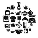 Prepare a meal icons set, simple style. Prepare a meal icons set. Simple set of 25 prepare a meal vector icons for web isolated on white background Royalty Free Stock Images