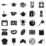 Prepare a meal icons set, simple style Royalty Free Stock Photo