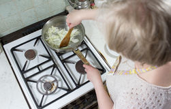 Prepare mexican chicekn. Royalty Free Stock Photo