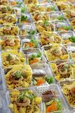 Prepare o alimento na caixa plástica Fotografia de Stock Royalty Free