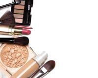 Prepare o fundo dos cosméticos com espaço livre para o texto fotografia de stock royalty free