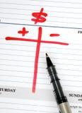 Prepare o orçamento imagens de stock royalty free