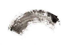 Prepare o projeto cosmético da textura do curso da escova do rímel isolado no branco fotografia de stock