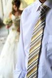 Prepare o torso em uma camisa azul e amarre-o Imagem de Stock Royalty Free