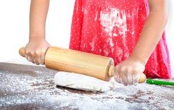 Prepare pizza dough Stock Photography