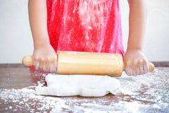 Prepare pizza dough Stock Photos