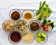 Prepare pork salad Royalty Free Stock Photos