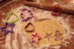 Prepare tasty cookies. family concept Royalty Free Stock Photo