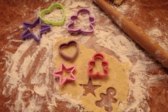 Prepare tasty cookies. family concept Royalty Free Stock Photography