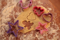 Prepare tasty cookies. family concept Royalty Free Stock Images